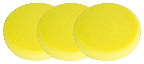 Koch Chemie 3x Schleifschwamm gelb mittelhart Polierschwamm Polierpad 160/30 mm