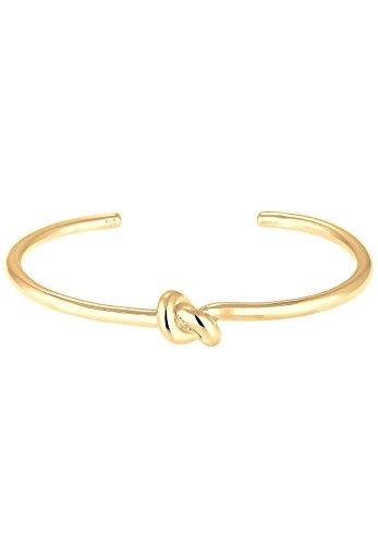 Elli Damen Armband Armreif Knoten Blogger Trend in 925 Sterling Silber - 16cm Länge