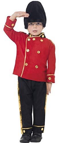 Fancy Me - Kinder Jungen Busby Buzby Britische Königliche Wache Kostüm Soldat Militär Outfit - Rot, 7-9 - Britische Militär Kostüm