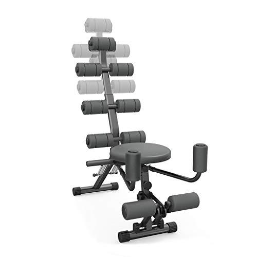 LXS 12 in 1 Fitnesstrainer Bauchmuskel Workout Fitnessgeräte Heim-Fitnessraum mit Rudergerät Kompatibel Männer Frauen Training Heim Fitnessgeräte