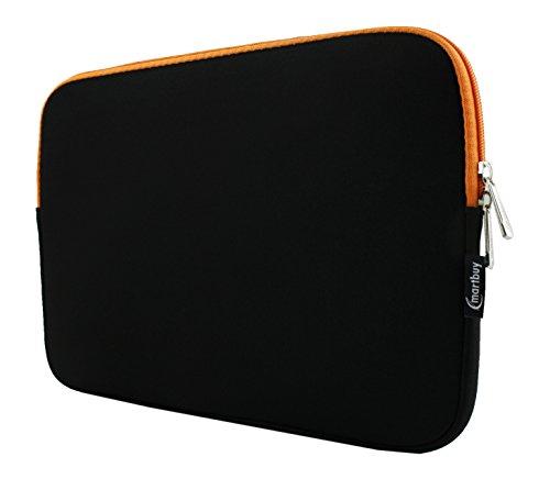 Neopren-laptop-halter (emartbuy Gehäuse, Deckel, Hülse Neopren 12.5-14.1 Zoll, Mitternacht Schwarz/Orange Mit Orange Interieur Und Zip, Wasserabweisend Geeignet Für Ausgewählte Geräte Unten Aufgeführt)