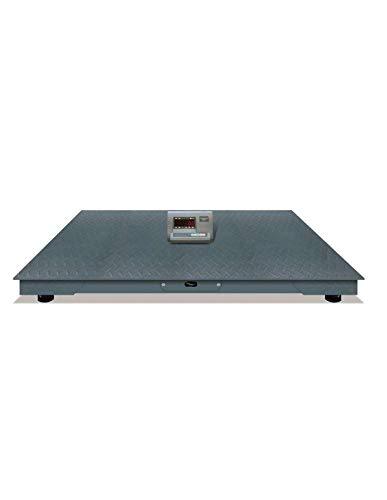 Pantalla LCD Capacidad máxima de 3000kg Batería interna recargable Precisión de 1kg Pantalla con luz de fondo  Plataforma de pesaje: Acero tratado termicamente Teclado resistente al agua y aceite Tamaño de la plataforma de pesaje: 120 x 120 cm (Largo...