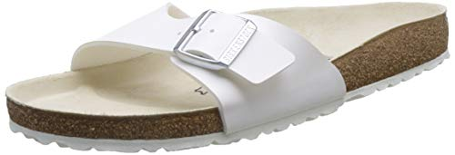 Birkenstock Madrid, Mules Homme Blanc 43 EU (normal)