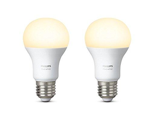 comprare on line Philips Hue White Lampadine LED, Attacco E27, 9 W, 2 Pezzi prezzo