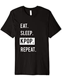 Eat Sleep KPOP Repeat T-Shirt Männer Frauen Kinder