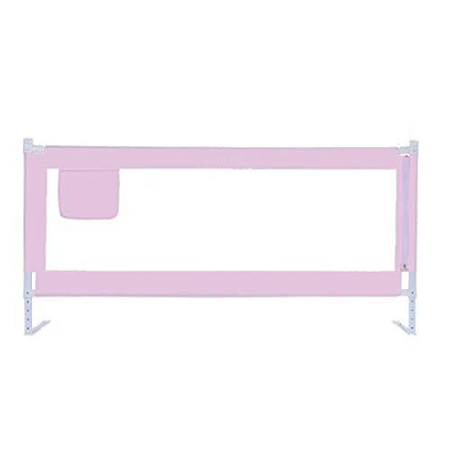 CQILONG-Bettgitter Höhenverstellung Stummes Heben Baumwolltube Sicherheitsbeleg Atmungsaktives Gewebe, 4 Farben 3 Größen (Color : Pink, Size : 200x75-90cm) -