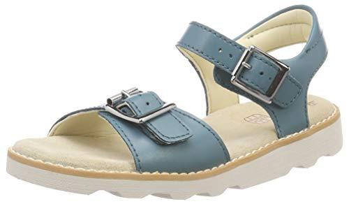 Clarks Mädchen Crown Bloom K Slingback Sandalen, Blau (Teal Leather), 28.5 EU -
