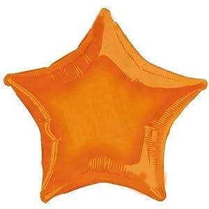 """North Star balón de papel de aluminio 22""""""""-55cm Estrella Naranja = = = USA código 7a3156801= = =, Naranja, 5ns00593-01"""