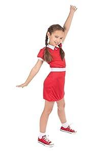 Bristol Novelty- Red Orphan Girl (Medium) Disfraz, Color rosso, 6-8 Años Old (CF238M)