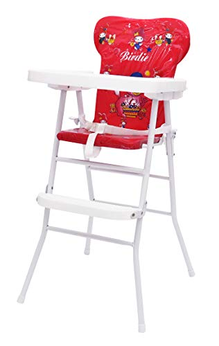 Stepupp Plastic High Chair For Kids Baby Feeding Chair And Foldable Recommended For Baby High Chair Kids High Chair Baby Feeding Chair Plastic High Chair 3 In 1 Foldable High Chair (red Color)