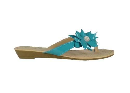 "Waooh - Chaussure - Tong femme ""Mareva"" Bleu"