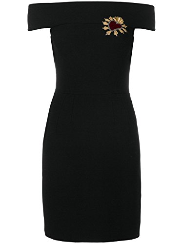 Dolce E Gabbana Damen F67v2zfu2tzn0000 Schwarz Seide Kleid (& Gabbana Dolce Damen-kleider)