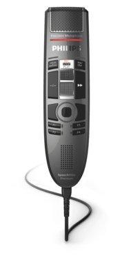 Philips SMP3710 SpeechMike Premium Touch, USB-Diktiermikrofon für kristallklare Aufnahmen und beste Spracherkennungsergebnisse, Bedienung per sensorischem Bedienfeld und Schiebeschalter, Anthrazit