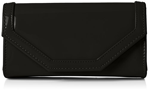 Nude Patent Leather (Swankyswans Damen Melania Patent Leather Envelope Clutch Bag Tasche, Schwarz (Black 03))
