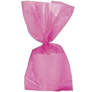 Shatchi - Paquete de 30 bridas de celofán para decoración de bodas, cumpleaños, despedidas de soltera, color rosa