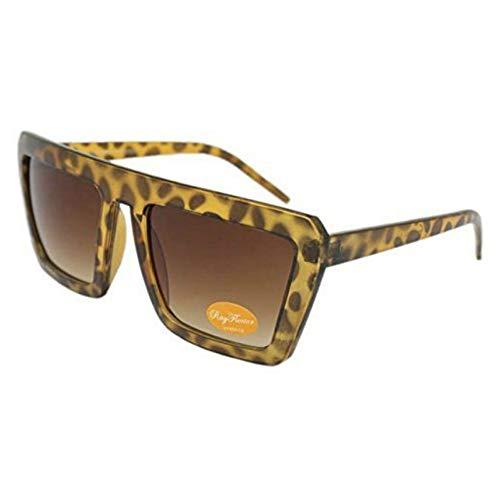 Minimale Maus Vintage Achtziger Jahre Style Big Rahmen Sonnenbrillen, One Size, Braun