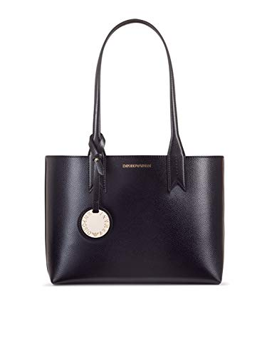 Emporio Armani Frida Small Eco Leather Shopper One Size BLACK