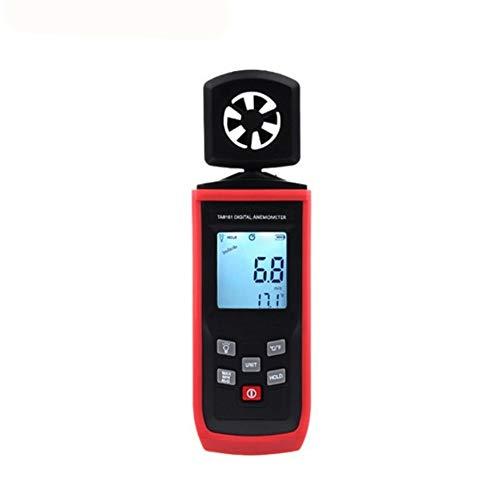 Zcyg Anemometer Wind Speed Meter Digital Handheld mit LCD-Hintergrundbeleuchtung Windmesser, for Angeln, Wettertests, industrielle Tests, Segelwettbewerb usw.