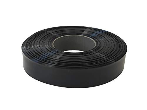 netproshop Akku Schrumpfschlauch 50mm Flachmaß = 32mm Durchmesser (4 Meter), Farbe:schwarz