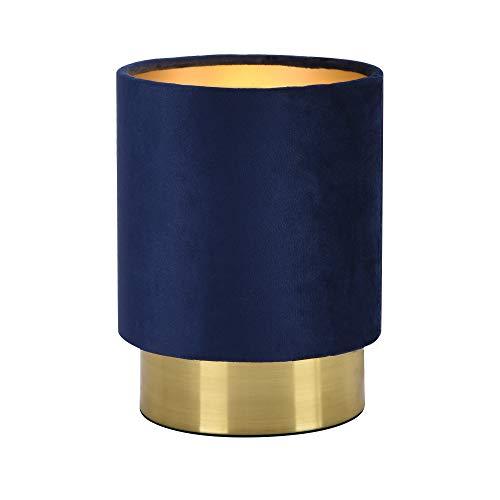 lux.pro] Tischleuchte Welsum Blau 1xE14 Tischlampe Lampe Leuchte Nachttischlampe Leselampe