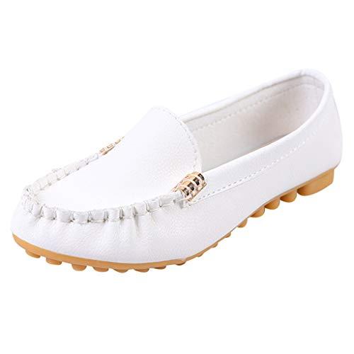 LILIGOD Damen Flache Freizeitschuhe Bequemer Weicher Boden Einzelne Schuhe Sommer Mode Slip-On Schuhe rutschfeste Atmungsaktiv Arbeitsschuhe Elegant Müßiggänger Erbsen Schuhe -