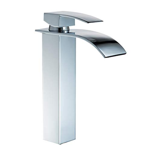 Bad Wasserhahn Abgeschrägte Square Wide Outlet Einlochmontage Einhand Hot And Cold Einstellung Waschbecken Wasserhahn,tall -