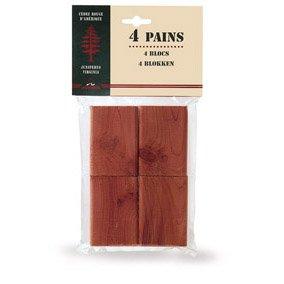 Mondex CED30208-00 Lot de 4 Plaquettes Antimites Cèdre Rouge 10 x 7 x 4 cm - Coloris aléatoire