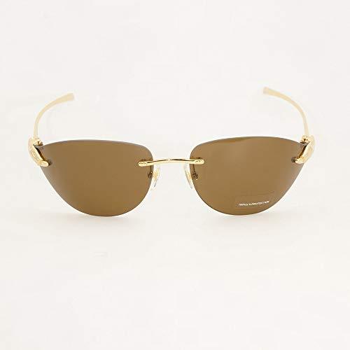 LKVNHP Neue Art UndWeise DerNeuen Qualitäts -Sonnenbrillen Herren Accessoires Damen Mode Brillen Dekoration In Party Urlaub Reisen Carter Sun -Glas -Gold -Brown