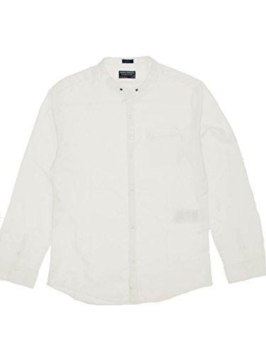 Mayoral 28-06156-041 - camicia m/l collo coreano per bambini e ragazzi 16 anni bianco