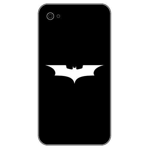 6 Stück 5cm Batman Fledermaus Handy smartphone Auto Aufkleber Tattoo die cut Decals Deko Folie (weiß) (2010-autoaufkleber)