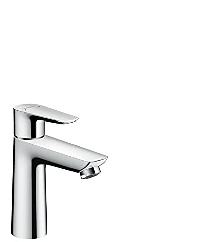 hansgrohe Talis E Einhebel-Waschtischmischer, Komfort-Höhe 110mm mit Zugstangen-Ablaufgarnitur,