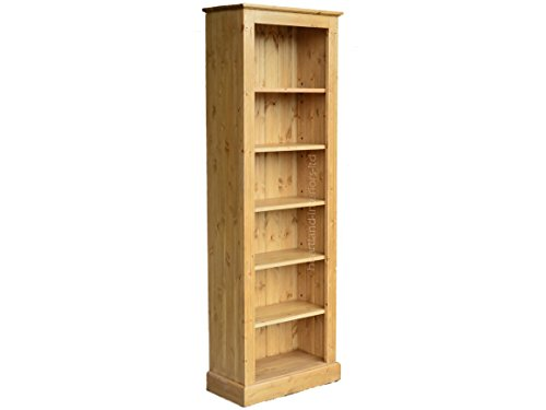 Affordable Solid Pine Bookcase, 6ft x 2ft Handcrafted & Waxed Adjustable Display Alcove Shelving Unit, Bookshelves. Choice of Colours. No flat packs, No assembly (BK62) Special