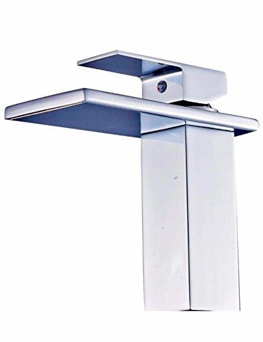 Waschtischarmatur Wasserhahn Wasserhahn alle kupfernen heißen und kalten Mundwasserhahn Badezimmer Schrank quadratischen breiten Mund Wasserfall Wasserhahn Waschbecken Wasserhahn -