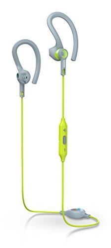 Philips SHQ8300LF ActionFit Cuffie Sport con Bluetooth, Due Tipi di Utilizzo, MusicChain, Grigio/Verde