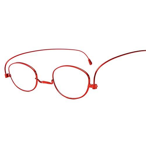 LGMR Randlose Lesebrille,Anti-Blaue Metallpapier-Lesebrille, ultraleichte Hyperopie der Alten Brille,+2.50