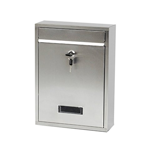 Htdzdx cassetta postale anteriore di caricamento in argento con serratura a chiave