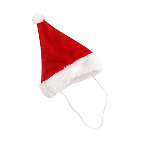 Eulan Starworld Cute Pet Chirstmas Hat, Dog Cat Puppy Teddy Animal Shapeshift Christmas Holiday Costume Apparel/Red Shapeshift