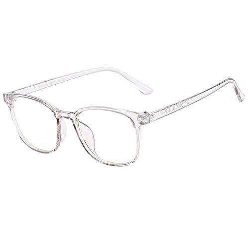 REALIKE Unisex Damen und Herren Brille Klassische Flacher Spiegel Runder Rahmen Brillengestell Elegant Brillengestell Aus,Anti-Blaulichtbrille, (Farbe : Schwarz, Rosa, Grau, Blau)