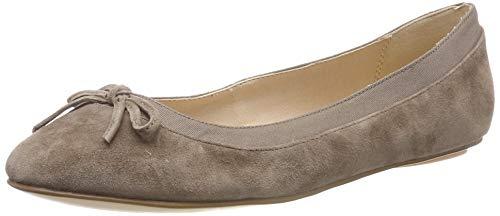 Buffalo Damen ANNELIE Geschlossene Ballerinas, Grau (Taupe 001), 38 EU (Taupe Leder Schuhe)