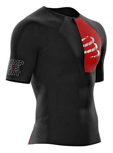COMPRESSPORT Erwachsene POSTURAL AERO SS TOP Triathlonshirt, Schwarz, T3