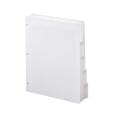 SMEAD Ordner Register, 1/5-cut Größe Taben, Buchstaben, Weiß, 5pro-Set, 20Sets pro Box - Datei-ordner Sortiert