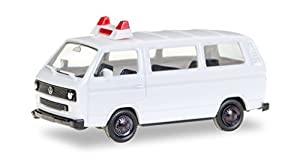 Herpa 012966Minikit VW T3Bus, sin Texto Impreso, vehículos, Color Blanco