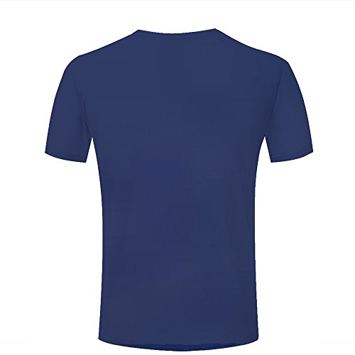 WEIYI BO Men T-Shirt 3D Digital Pinted Exotic Beach Sea Sky Crewneck Casual Tee Shirt Tops B
