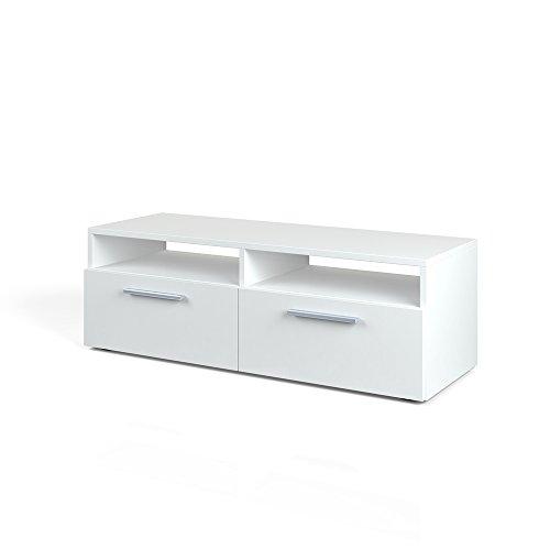 VICCO Lowboard DIEGO - Fernsehtisch Sideboard Fernsehschrank TV-Board Schrank (Weiß Hochglanz, 95cm) (Obere Receiver)