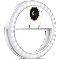 Actualizar Halu Selfie Anillo De Luz Con 36 Bombillas LED Lampara De Flash De Relleno En El Anillo De Clip De Luces Iluminacion Portatil Con USB Para Telefono Tablet Ipad Laptop - VersiÓN Recargable