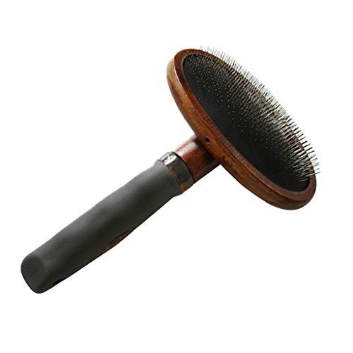 Vintage Style Holz Pet Brush-Entfernt lose Unterwolle, verworrene Haare aus dem Fell Ihres Haustieres, natürliche Verholzung umweltfreundliche Haustierpflege (Vintage-massagegerät)
