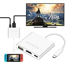 Nintendo Switch Hub HDMI Adapter 4 K, futsym der U89 USB C bis HDMI HUB für Nintendo Switch Dock tragbar Zubehör Konverter Kabel zu TV Reise Dockingstation Samsung Galaxy Note 8 Dex S8 S9 Plus - Für Konverter Reisen