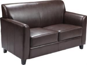 Flash Furniture Diplomat BT-827 Reception Loveseat Brown by Flash Furniture