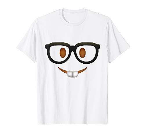 Nerd Emoticon Shirt Geek Face Smile Funny Halloween Costume T-Shirt
