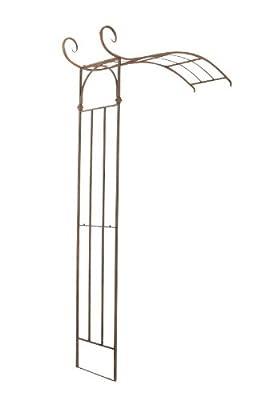CLP halbrunder Rosenbogen JASMIN zur Wandbefestigung, aus stabilem Eisen, Durchganghöhe/-breite: 222 cm / 135 cm, aus bis zu 6 Farben wählen von CLP bei Du und dein Garten